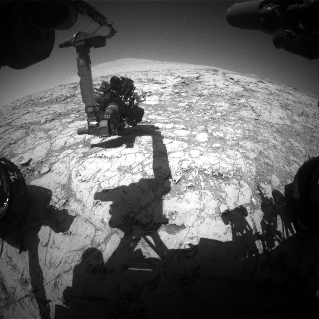 Nasa's Mars rover Curiosity acquired this image using its Front Hazard Avoidance Camera (Front Hazcam) on Sol 1834, at drive 952, site number 66