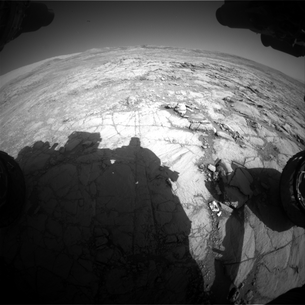 Nasa's Mars rover Curiosity acquired this image using its Front Hazard Avoidance Camera (Front Hazcam) on Sol 1834, at drive 1112, site number 66