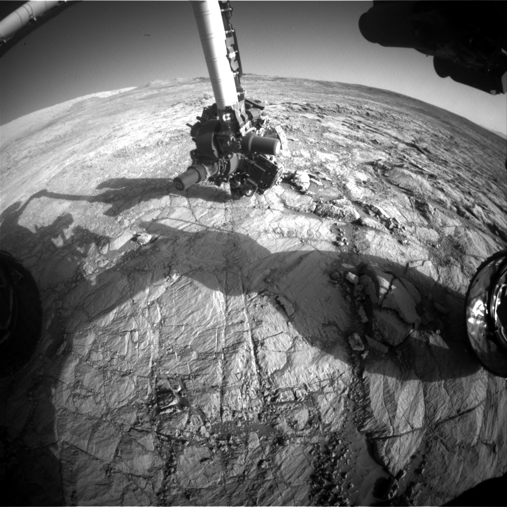 Nasa's Mars rover Curiosity acquired this image using its Front Hazard Avoidance Camera (Front Hazcam) on Sol 1836, at drive 1112, site number 66