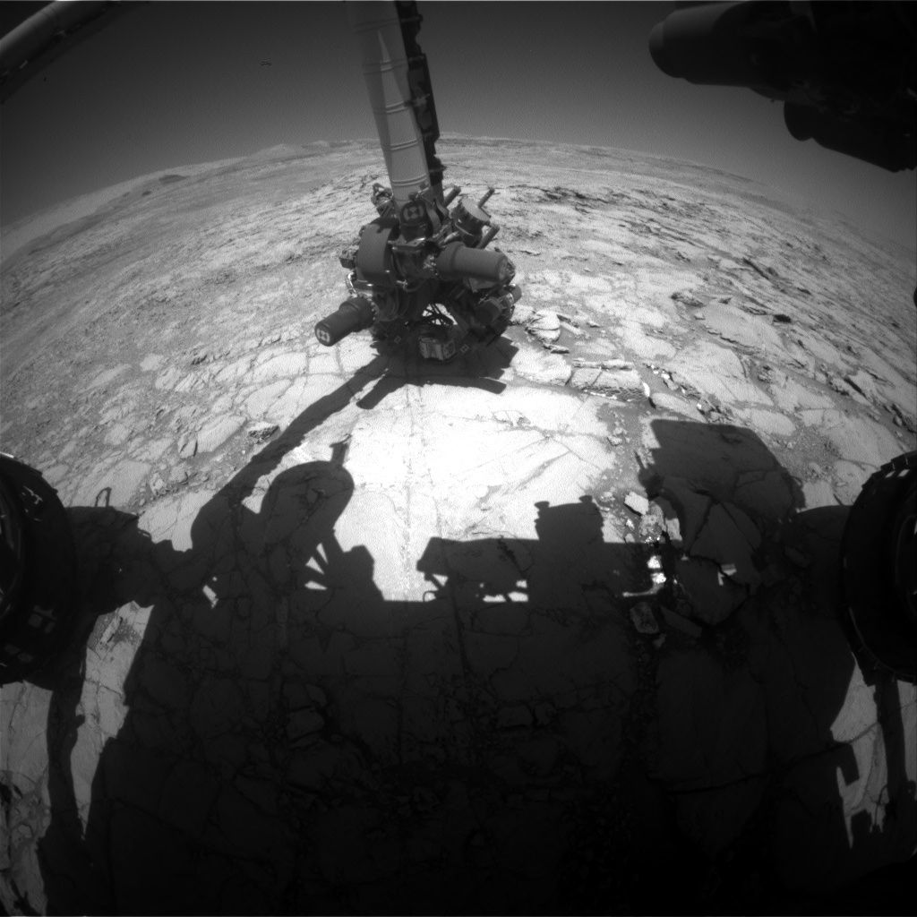 Nasa's Mars rover Curiosity acquired this image using its Front Hazard Avoidance Camera (Front Hazcam) on Sol 1837, at drive 1112, site number 66