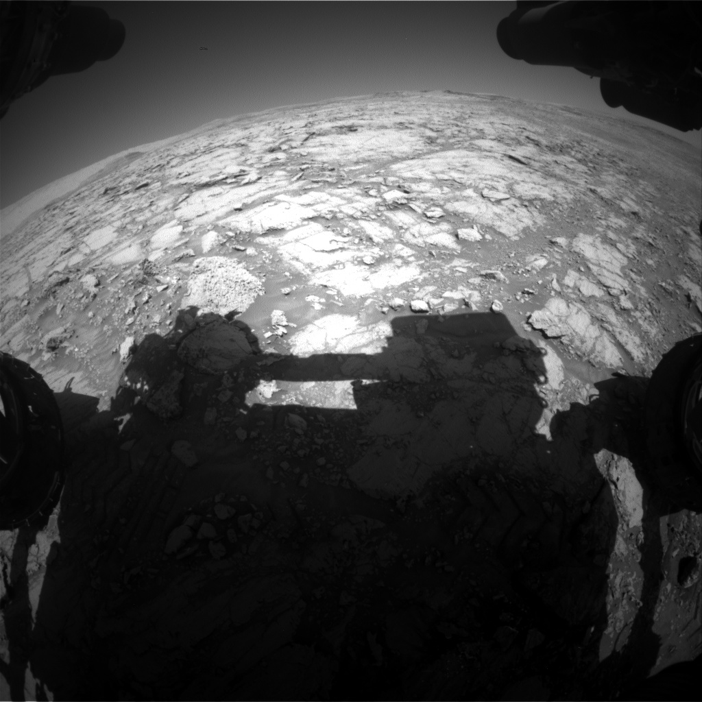 Nasa's Mars rover Curiosity acquired this image using its Front Hazard Avoidance Camera (Front Hazcam) on Sol 1837, at drive 1332, site number 66