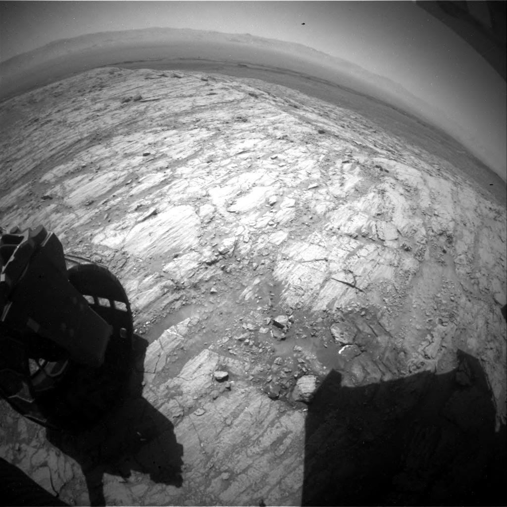 NASA's Mars rover Curiosity acquired this image using its Rear Hazard Avoidance Cameras (Rear Hazcams) on Sol 1837