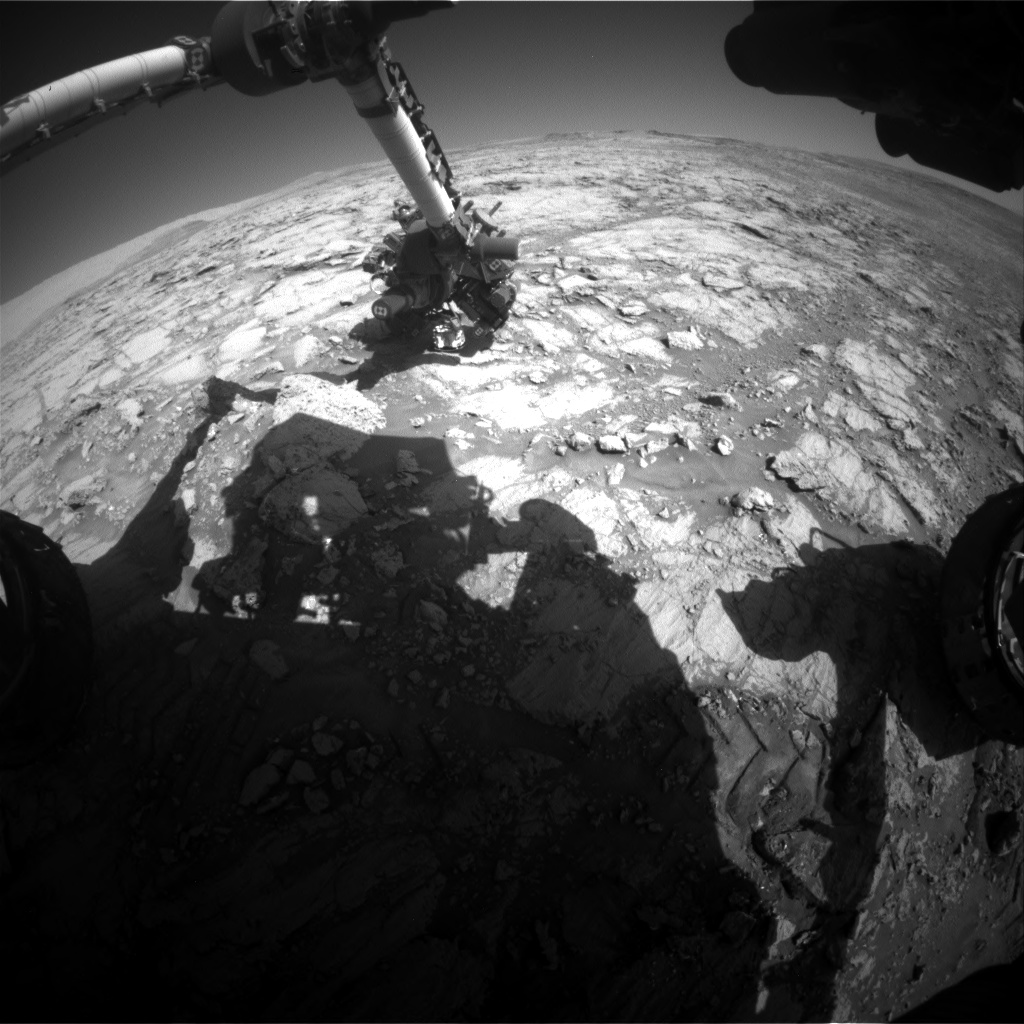 Nasa's Mars rover Curiosity acquired this image using its Front Hazard Avoidance Camera (Front Hazcam) on Sol 1839, at drive 1332, site number 66
