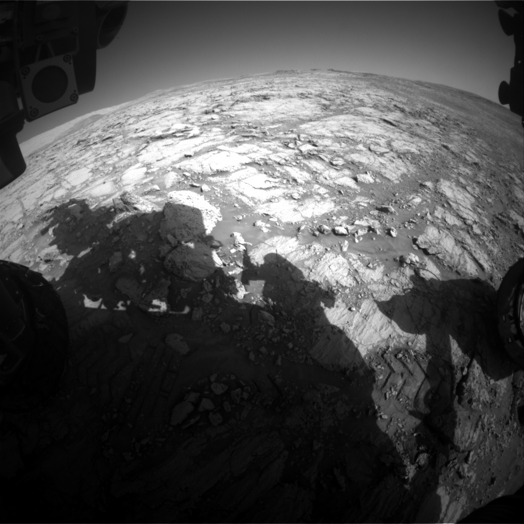 NASA's Mars rover Curiosity acquired this image using its Front Hazard Avoidance Cameras (Front Hazcams) on Sol 1840