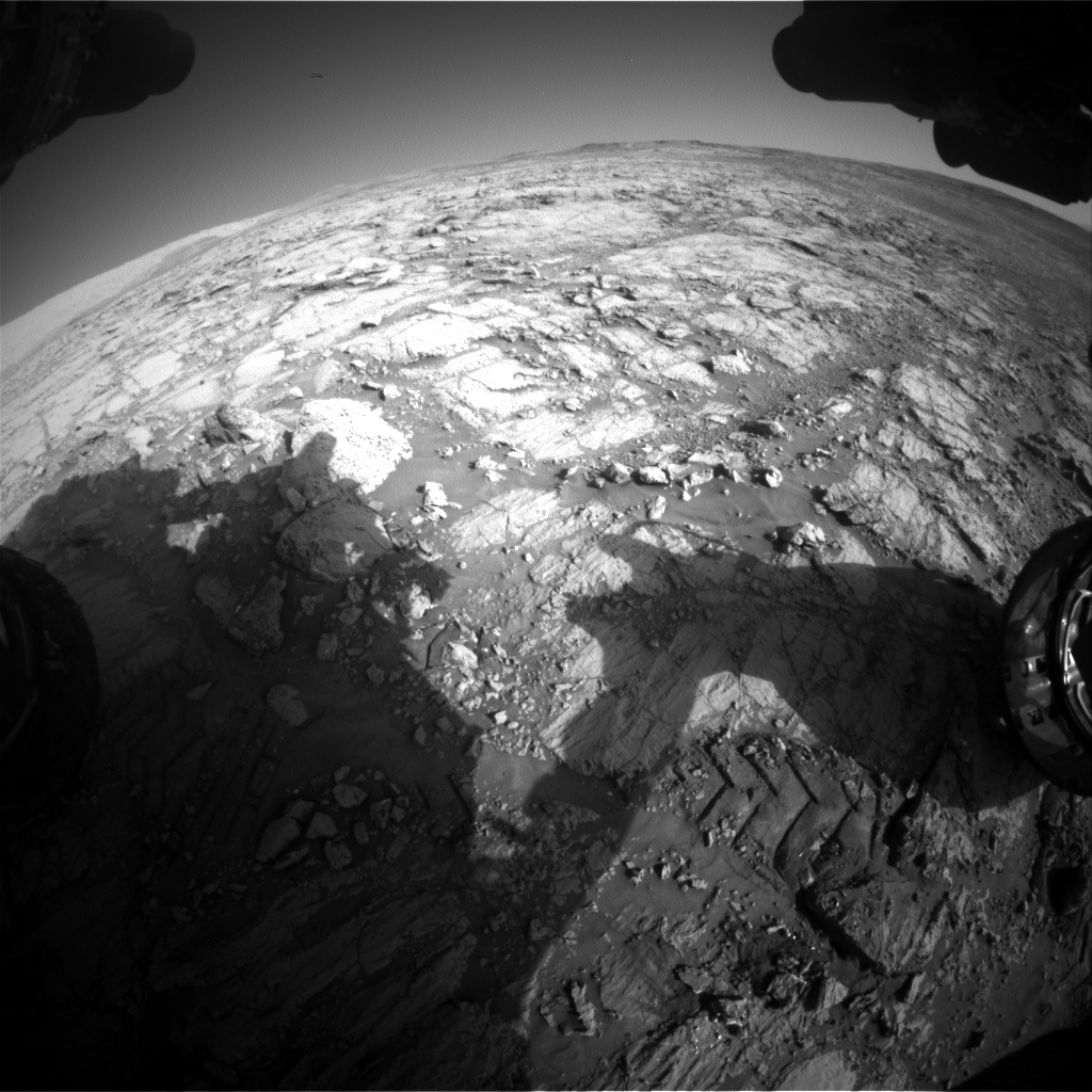 Nasa's Mars rover Curiosity acquired this image using its Front Hazard Avoidance Camera (Front Hazcam) on Sol 1841, at drive 1332, site number 66