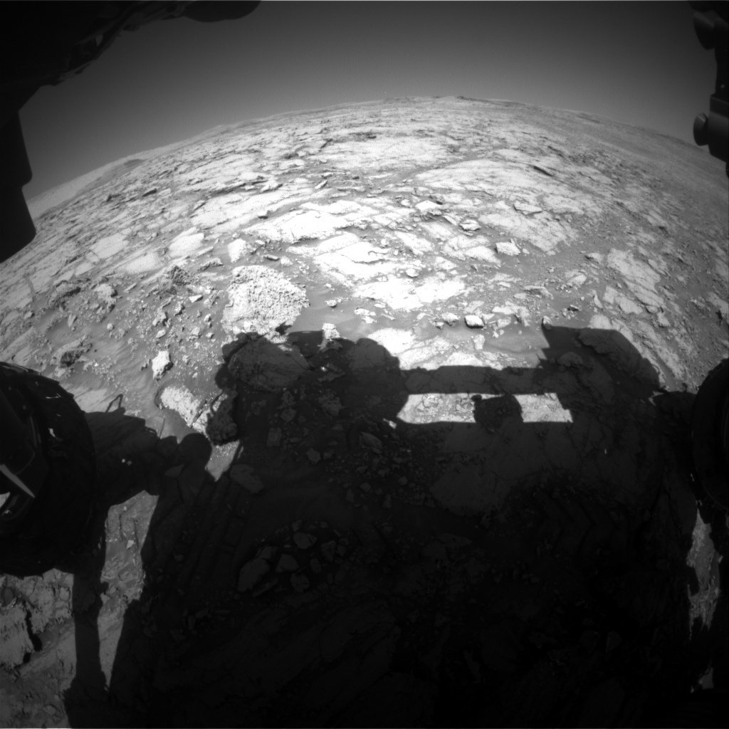 NASA's Mars rover Curiosity acquired this image using its Front Hazard Avoidance Cameras (Front Hazcams) on Sol 1842