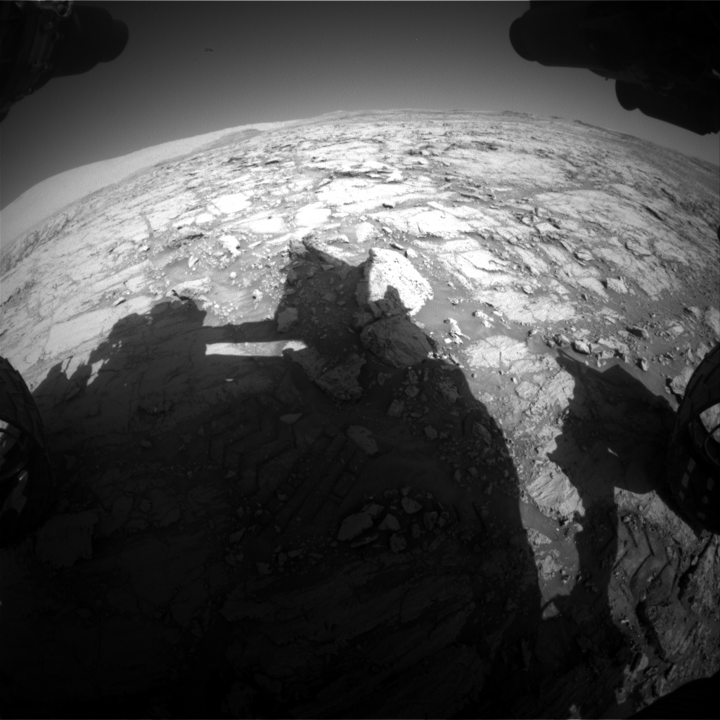 Nasa's Mars rover Curiosity acquired this image using its Front Hazard Avoidance Camera (Front Hazcam) on Sol 1843, at drive 1342, site number 66