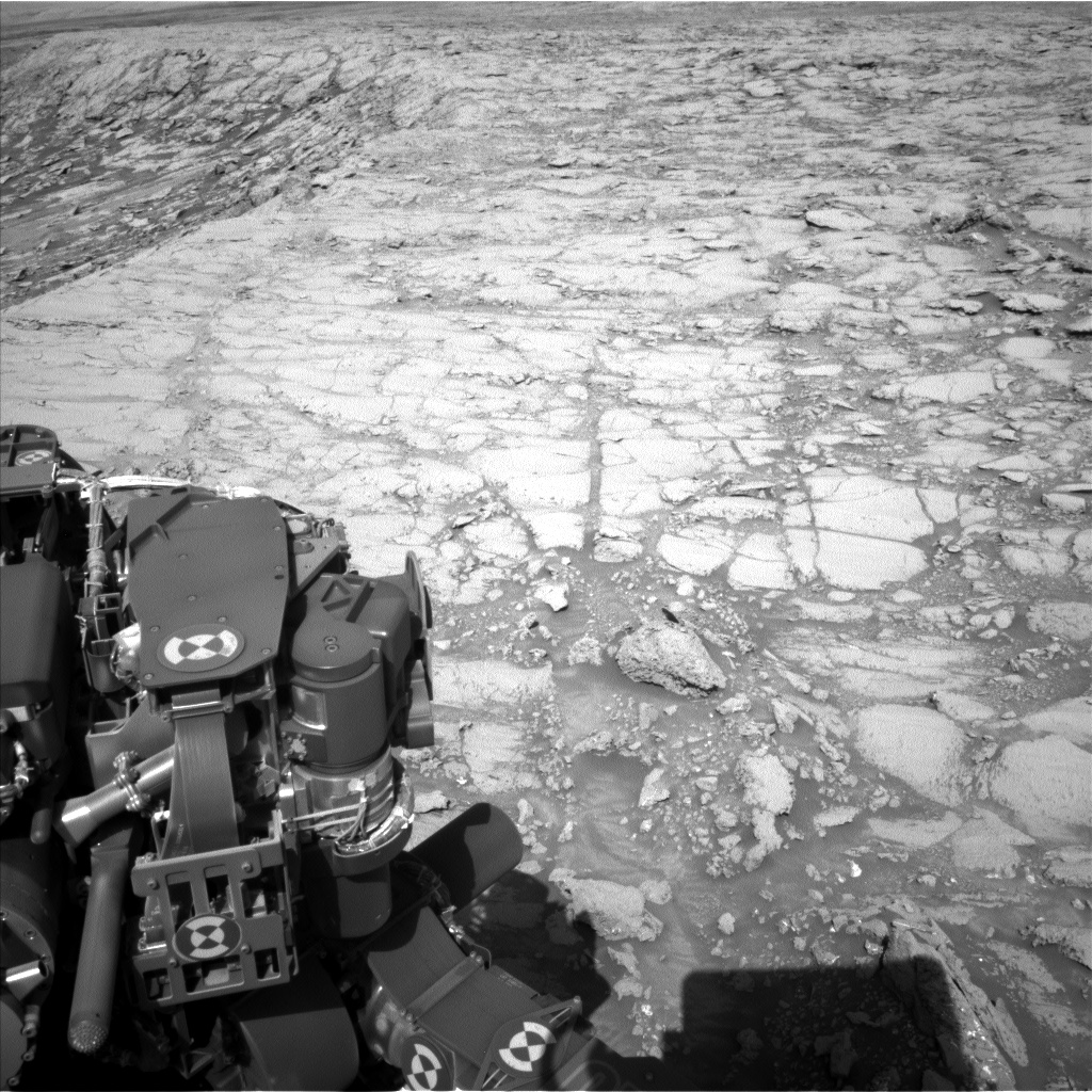 Nasa's Mars rover Curiosity acquired this image using its Left Navigation Camera on Sol 1843, at drive 1342, site number 66