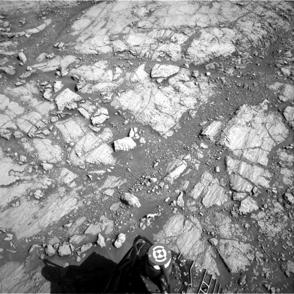 NASA's Mars rover Curiosity acquired this image using its Right Navigation Cameras (Navcams) on Sol 1843