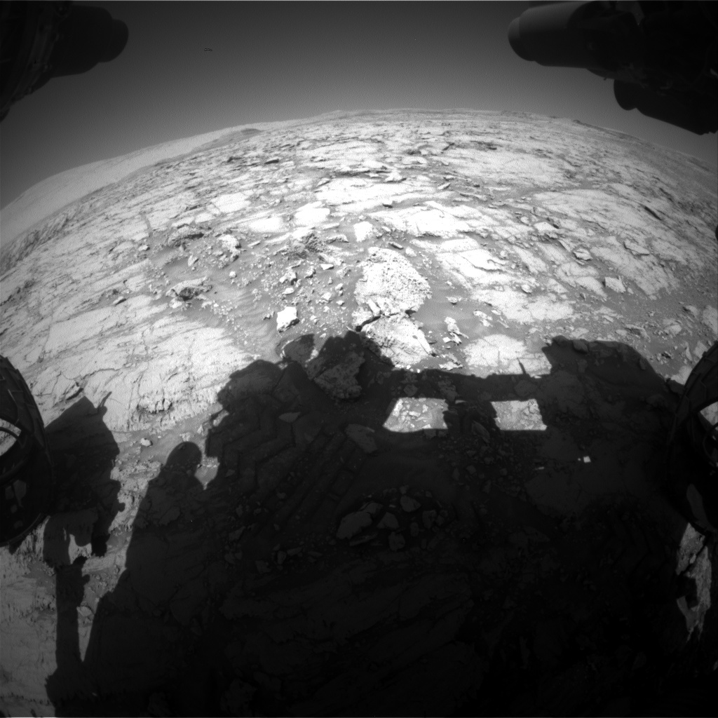 Nasa's Mars rover Curiosity acquired this image using its Front Hazard Avoidance Camera (Front Hazcam) on Sol 1844, at drive 1342, site number 66