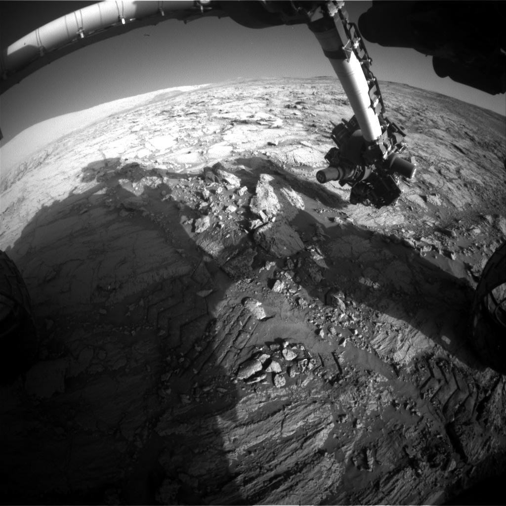 Nasa's Mars rover Curiosity acquired this image using its Front Hazard Avoidance Camera (Front Hazcam) on Sol 1845, at drive 1342, site number 66