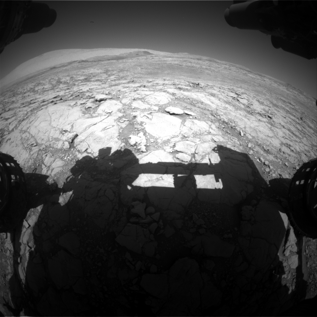 Nasa's Mars rover Curiosity acquired this image using its Front Hazard Avoidance Camera (Front Hazcam) on Sol 1846, at drive 1516, site number 66