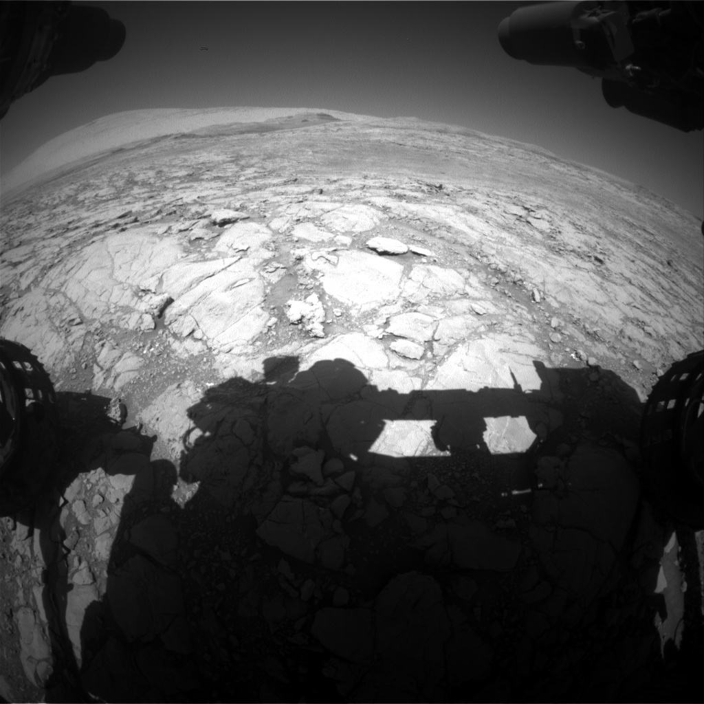 Nasa's Mars rover Curiosity acquired this image using its Front Hazard Avoidance Camera (Front Hazcam) on Sol 1847, at drive 1516, site number 66