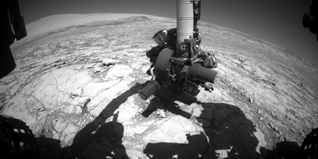 Nasa's Mars rover Curiosity acquired this image using its Front Hazard Avoidance Camera (Front Hazcam) on Sol 1848, at drive 1516, site number 66
