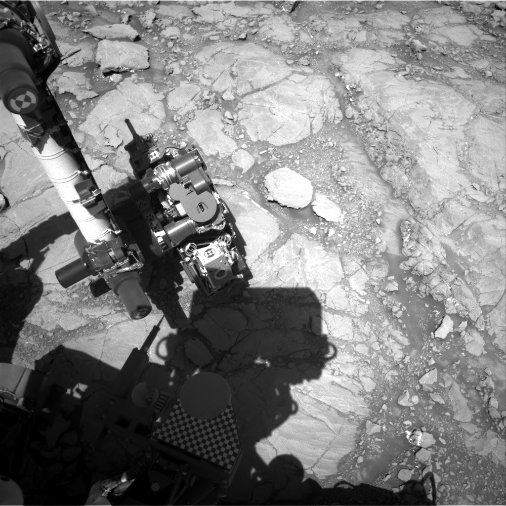 NASA's Mars rover Curiosity acquired this image using its Right Navigation Cameras (Navcams) on Sol 1848