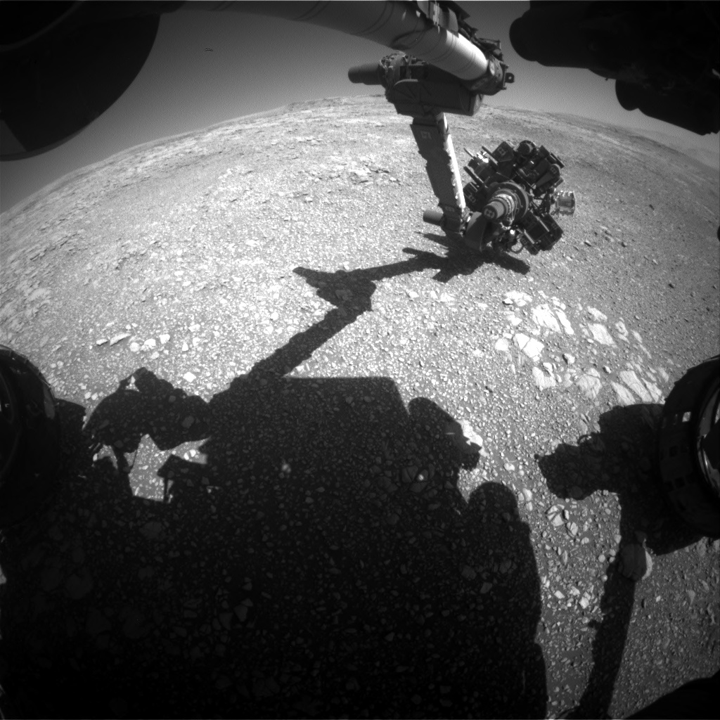 Nasa's Mars rover Curiosity acquired this image using its Front Hazard Avoidance Camera (Front Hazcam) on Sol 1850, at drive 1654, site number 66