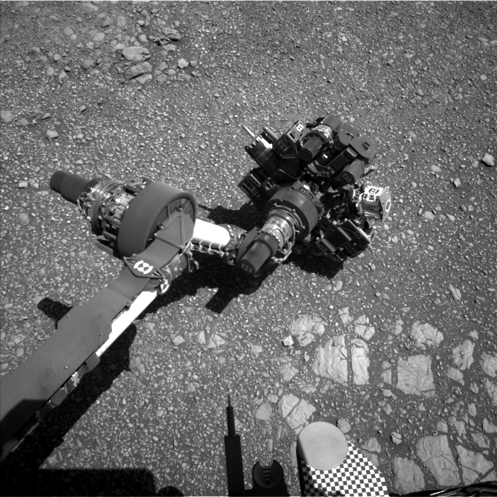 Nasa's Mars rover Curiosity acquired this image using its Left Navigation Camera on Sol 1850, at drive 1654, site number 66
