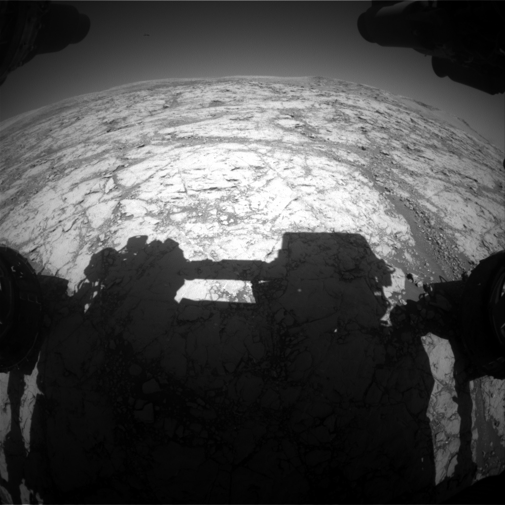 Nasa's Mars rover Curiosity acquired this image using its Front Hazard Avoidance Camera (Front Hazcam) on Sol 1851, at drive 1804, site number 66