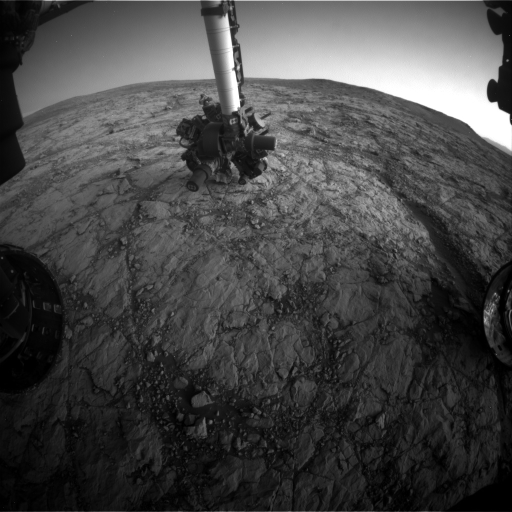 Nasa's Mars rover Curiosity acquired this image using its Front Hazard Avoidance Camera (Front Hazcam) on Sol 1852, at drive 1804, site number 66