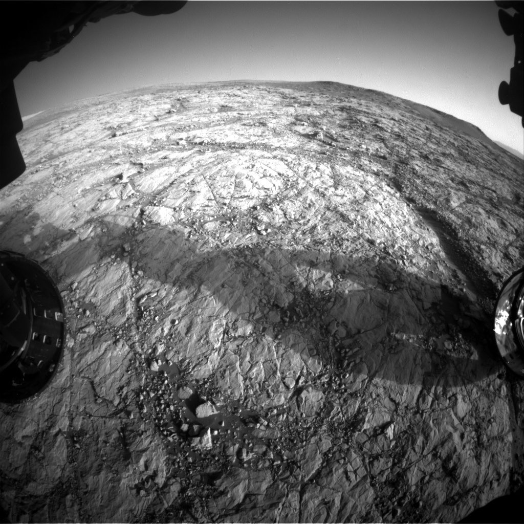 NASA's Mars rover Curiosity acquired this image using its Front Hazard Avoidance Cameras (Front Hazcams) on Sol 1853