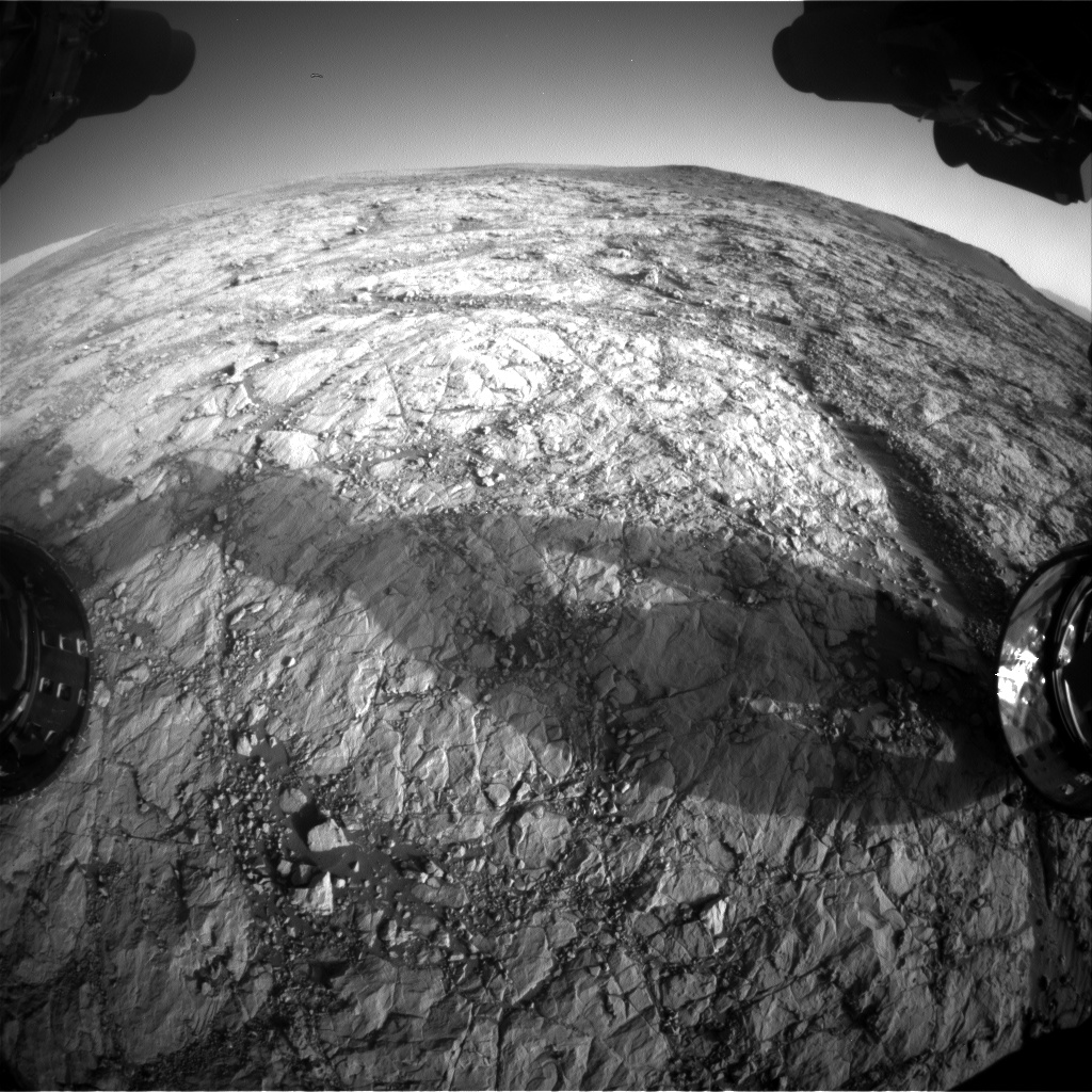 Nasa's Mars rover Curiosity acquired this image using its Front Hazard Avoidance Camera (Front Hazcam) on Sol 1853, at drive 1804, site number 66