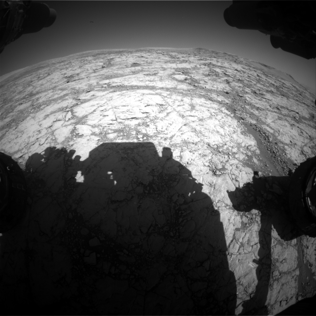 Nasa's Mars rover Curiosity acquired this image using its Front Hazard Avoidance Camera (Front Hazcam) on Sol 1856, at drive 1804, site number 66
