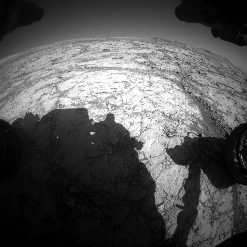 Nasa's Mars rover Curiosity acquired this image using its Front Hazard Avoidance Camera (Front Hazcam) on Sol 1857, at drive 1804, site number 66