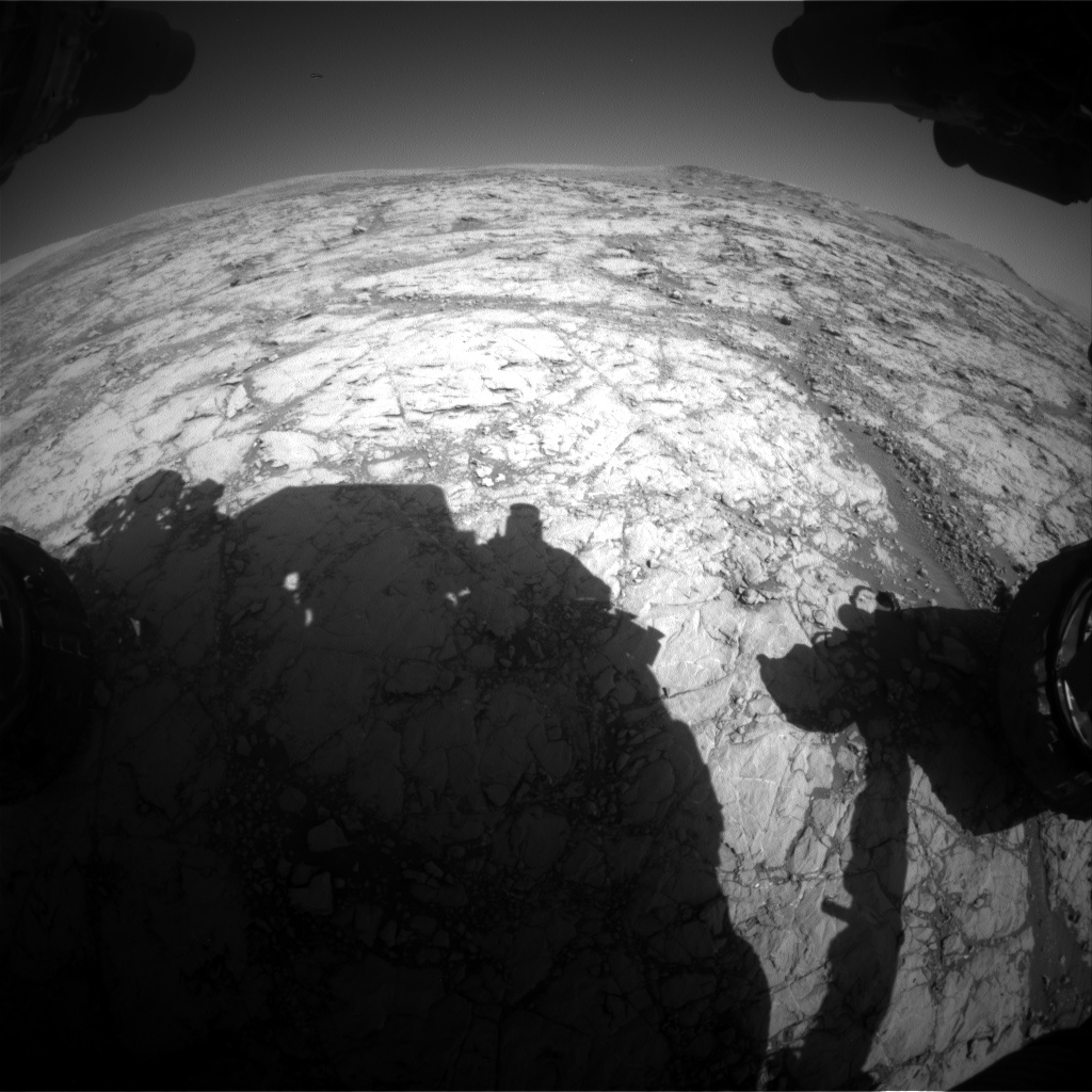 Nasa's Mars rover Curiosity acquired this image using its Front Hazard Avoidance Camera (Front Hazcam) on Sol 1858, at drive 1804, site number 66
