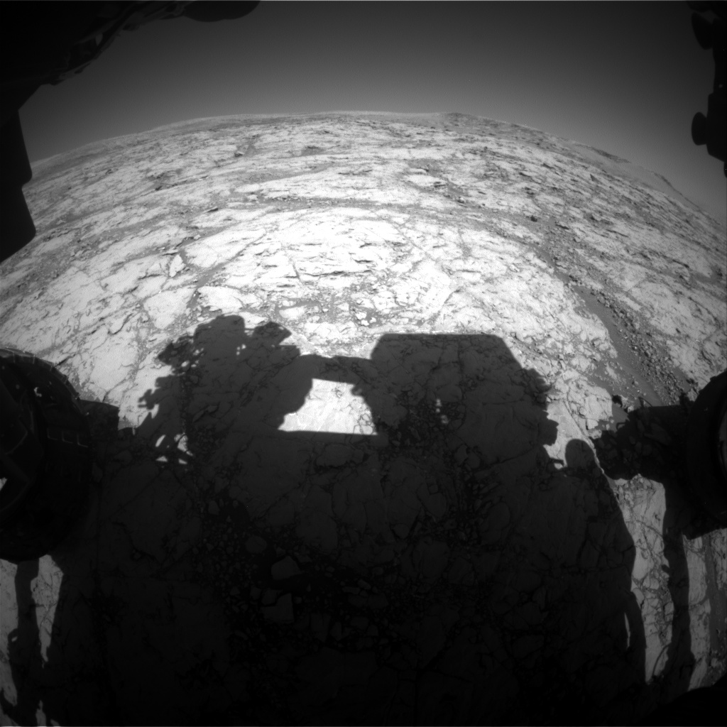 Nasa's Mars rover Curiosity acquired this image using its Front Hazard Avoidance Camera (Front Hazcam) on Sol 1860, at drive 1804, site number 66