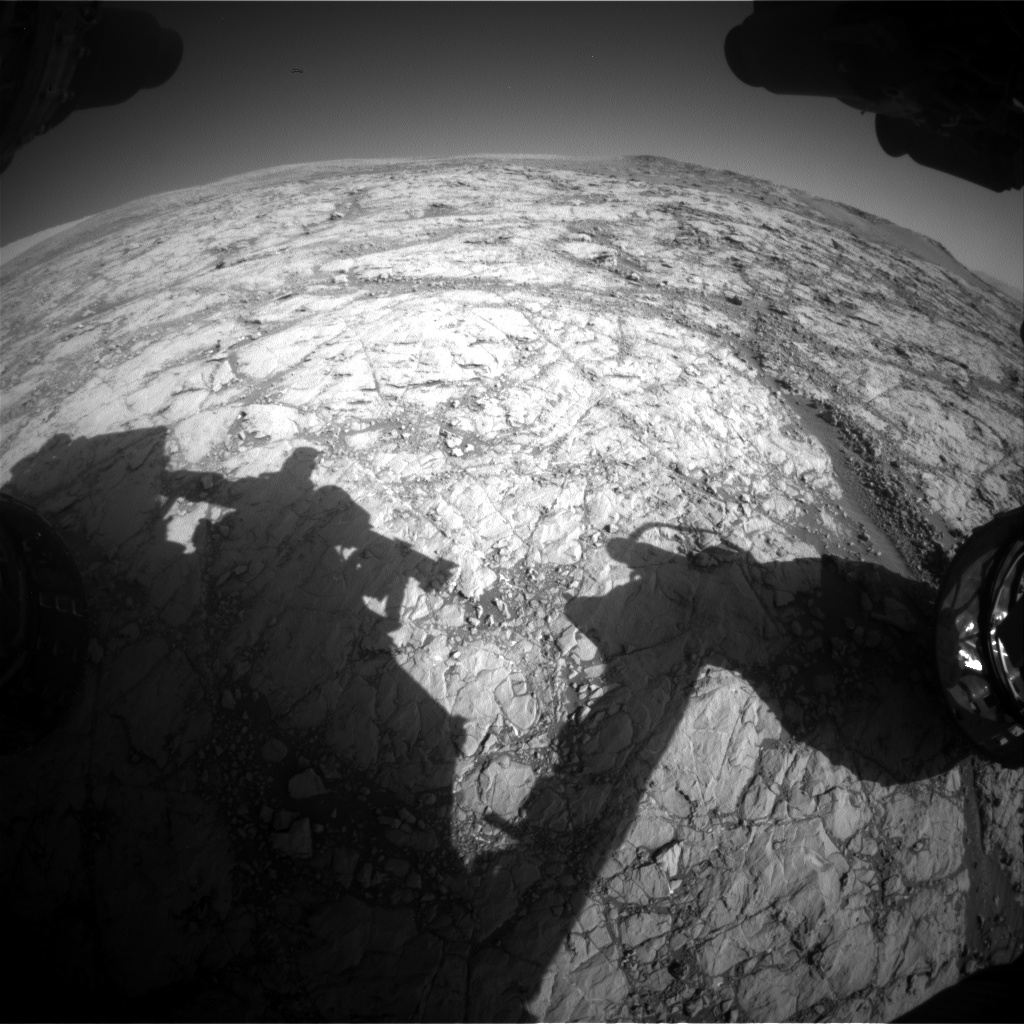 Nasa's Mars rover Curiosity acquired this image using its Front Hazard Avoidance Camera (Front Hazcam) on Sol 1861, at drive 1804, site number 66