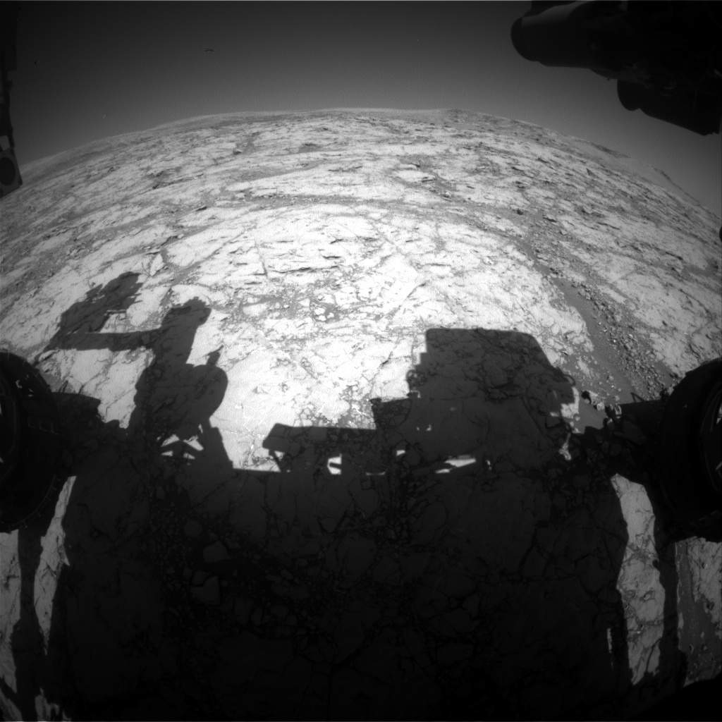 Nasa's Mars rover Curiosity acquired this image using its Front Hazard Avoidance Camera (Front Hazcam) on Sol 1862, at drive 1804, site number 66