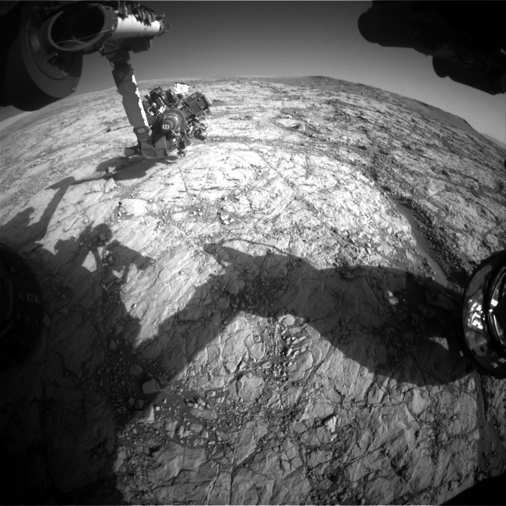 Nasa's Mars rover Curiosity acquired this image using its Front Hazard Avoidance Camera (Front Hazcam) on Sol 1863, at drive 1804, site number 66