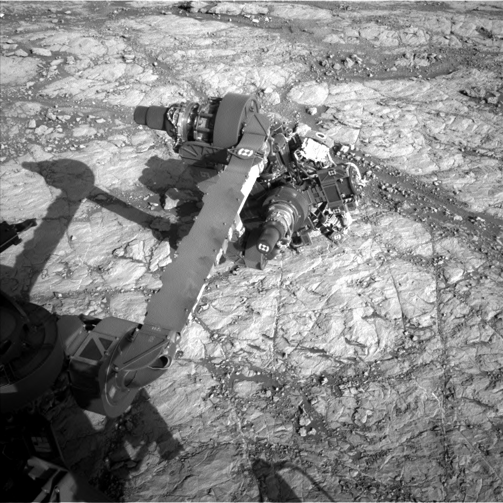 Nasa's Mars rover Curiosity acquired this image using its Left Navigation Camera on Sol 1863, at drive 1804, site number 66