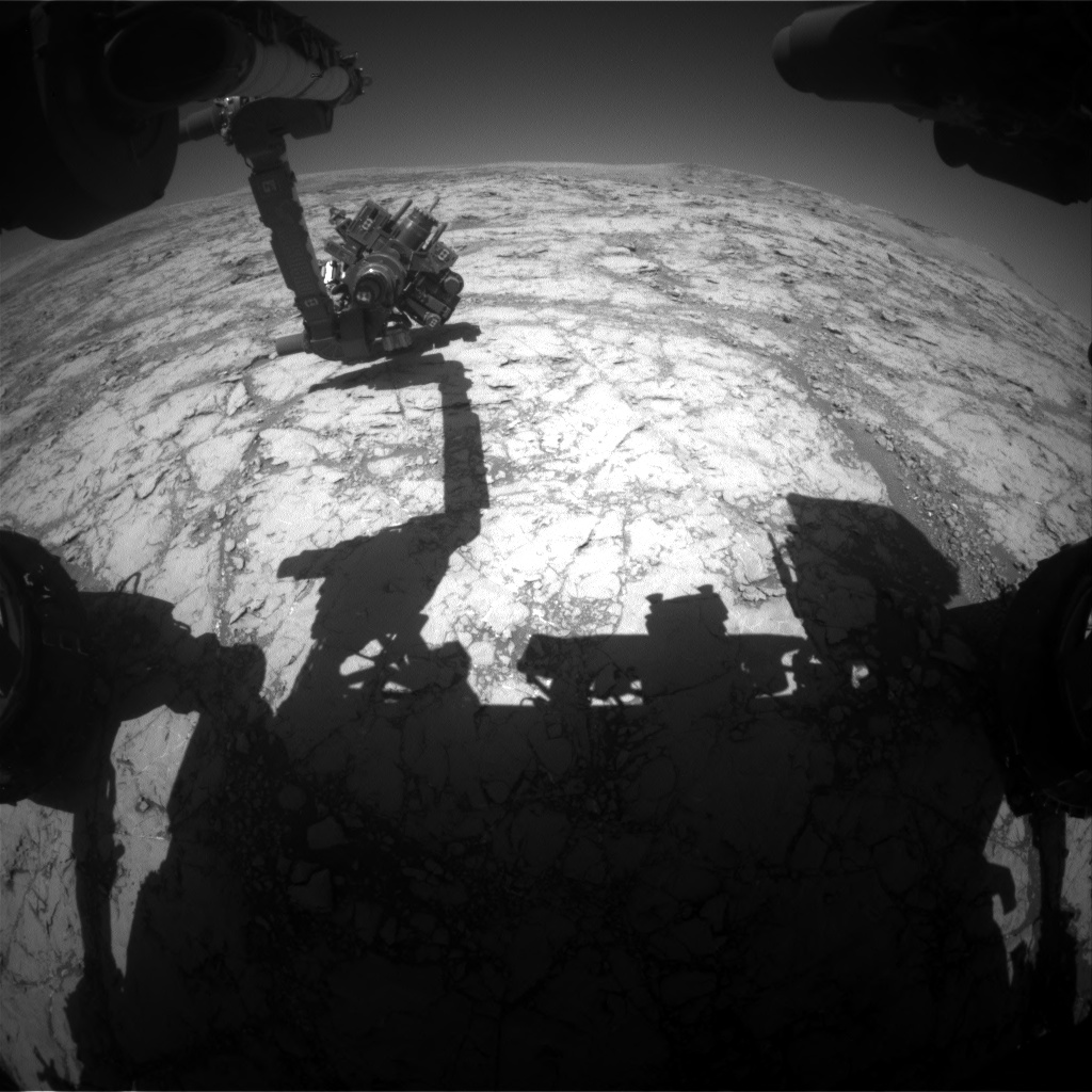 Nasa's Mars rover Curiosity acquired this image using its Front Hazard Avoidance Camera (Front Hazcam) on Sol 1864, at drive 1804, site number 66