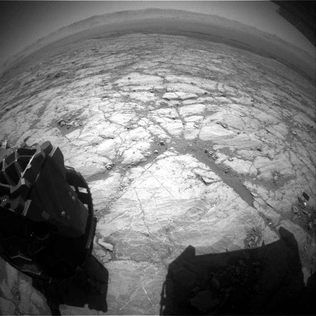 NASA's Mars rover Curiosity acquired this image using its Rear Hazard Avoidance Cameras (Rear Hazcams) on Sol 1864