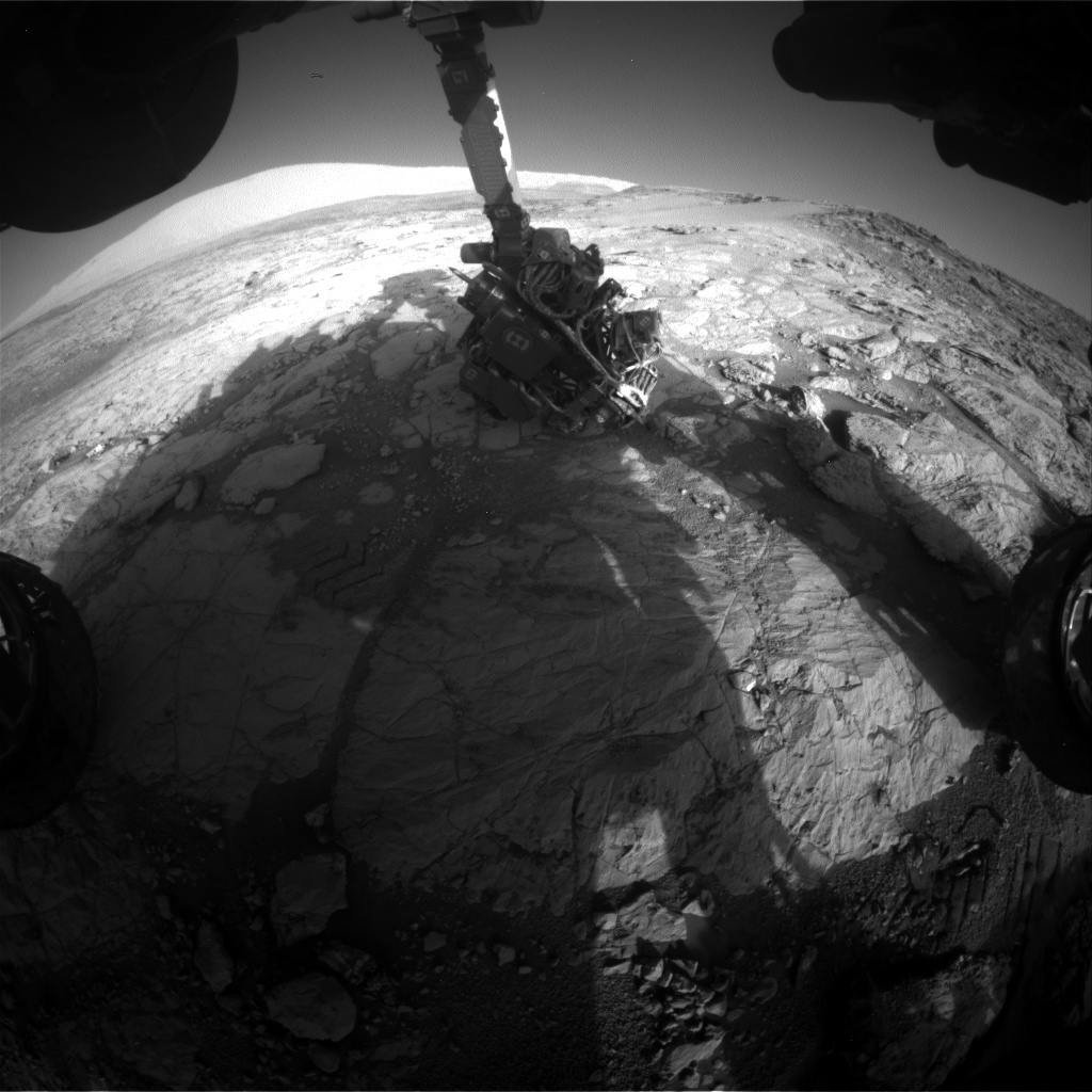 Nasa's Mars rover Curiosity acquired this image using its Front Hazard Avoidance Camera (Front Hazcam) on Sol 1865, at drive 1994, site number 66