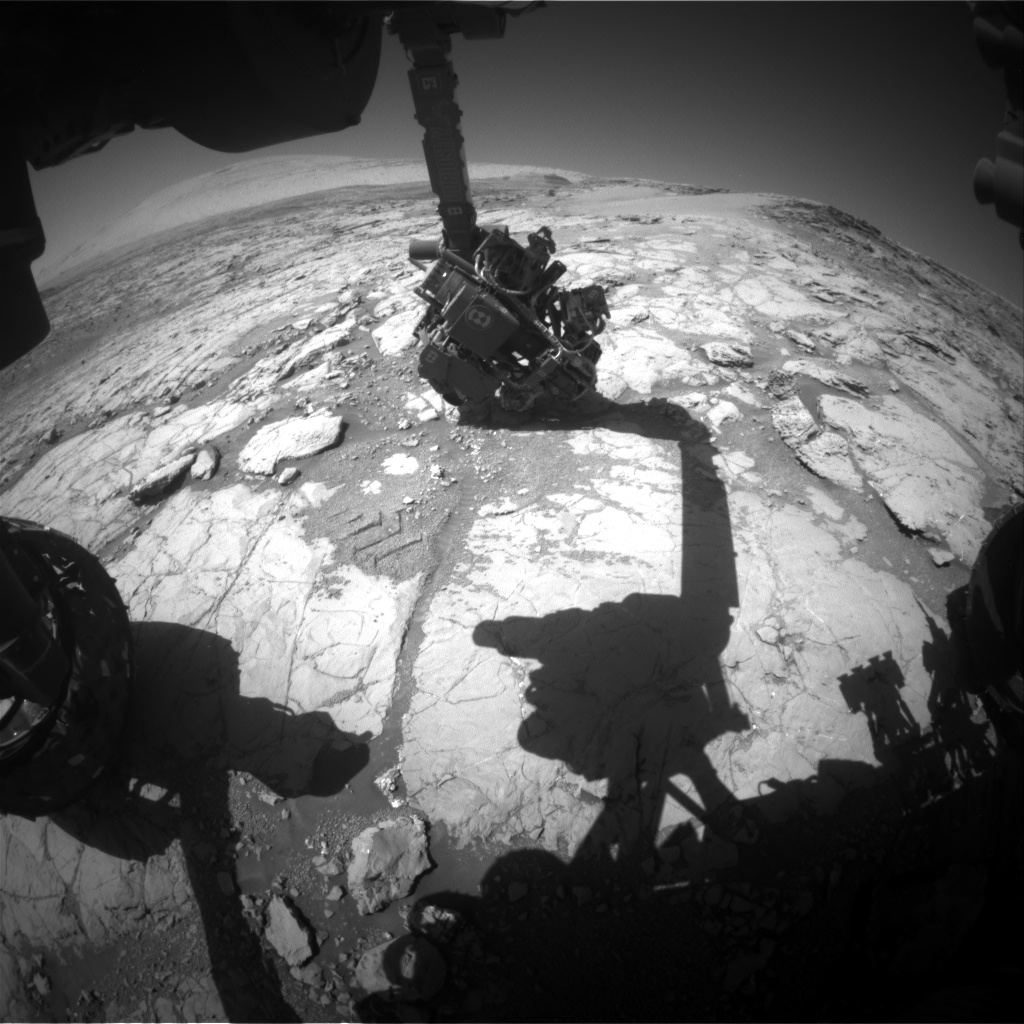Nasa's Mars rover Curiosity acquired this image using its Front Hazard Avoidance Camera (Front Hazcam) on Sol 1866, at drive 1994, site number 66