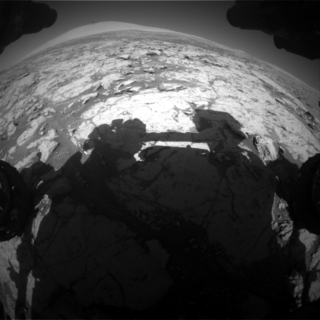 Nasa's Mars rover Curiosity acquired this image using its Front Hazard Avoidance Camera (Front Hazcam) on Sol 1867, at drive 2168, site number 66