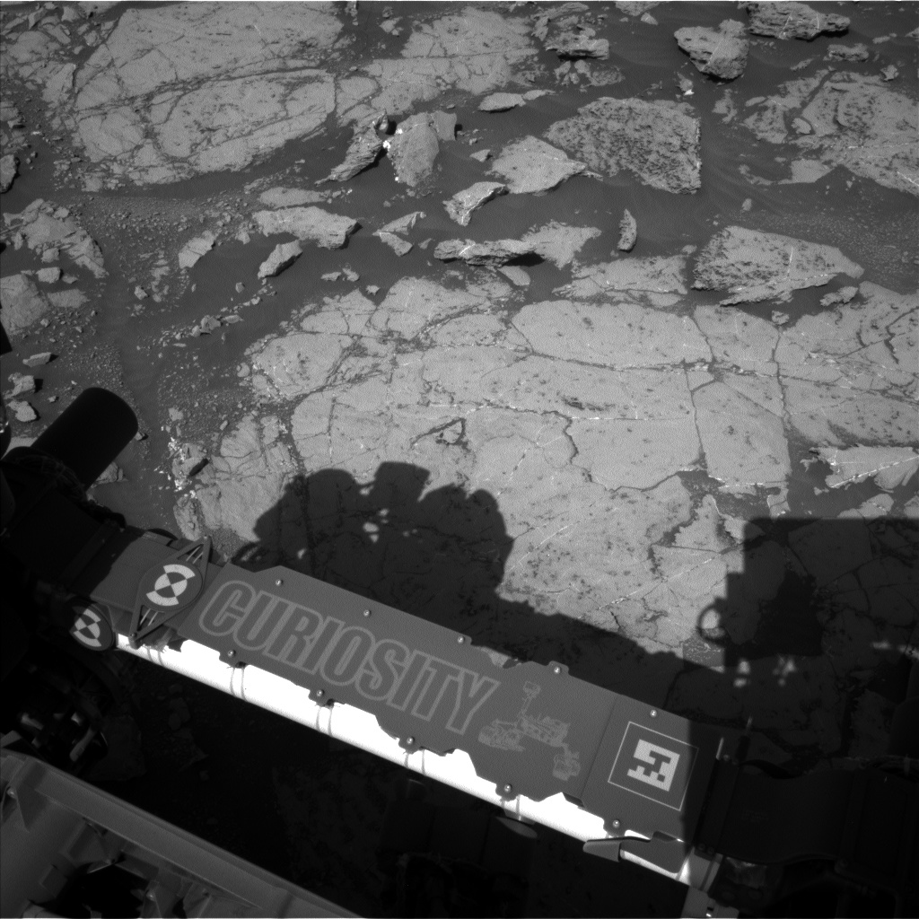 Nasa's Mars rover Curiosity acquired this image using its Left Navigation Camera on Sol 1867, at drive 2168, site number 66