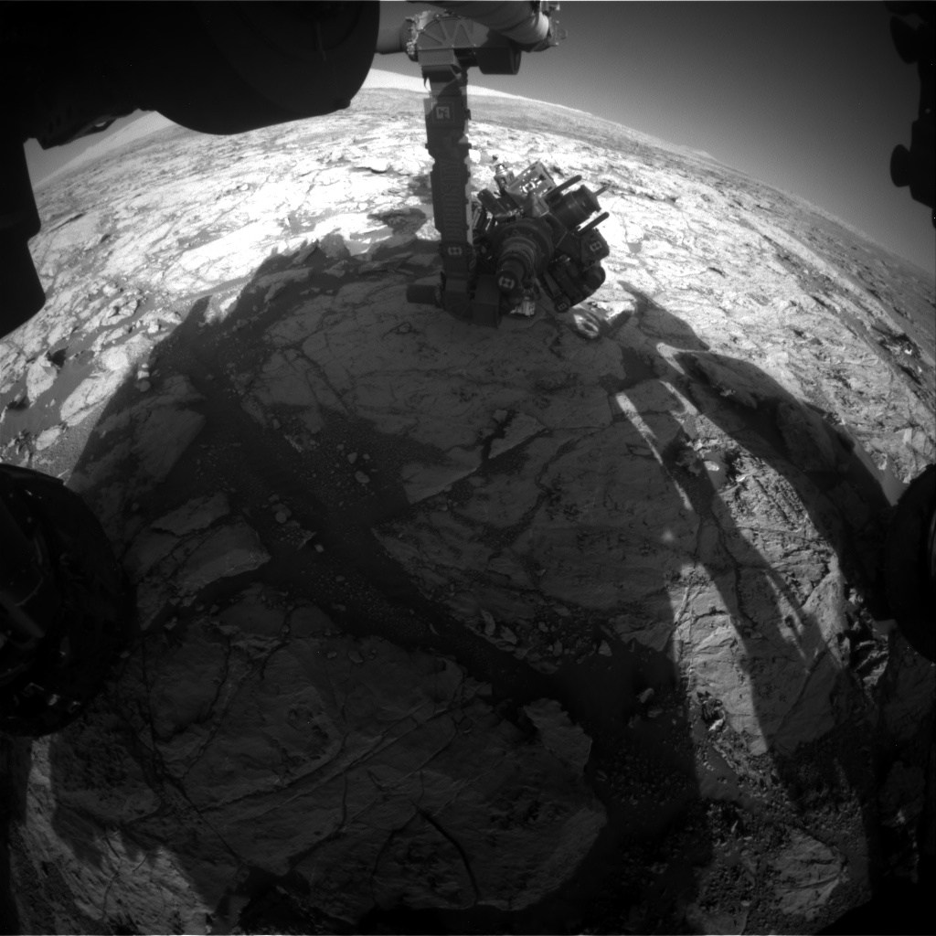 Nasa's Mars rover Curiosity acquired this image using its Front Hazard Avoidance Camera (Front Hazcam) on Sol 1868, at drive 2168, site number 66