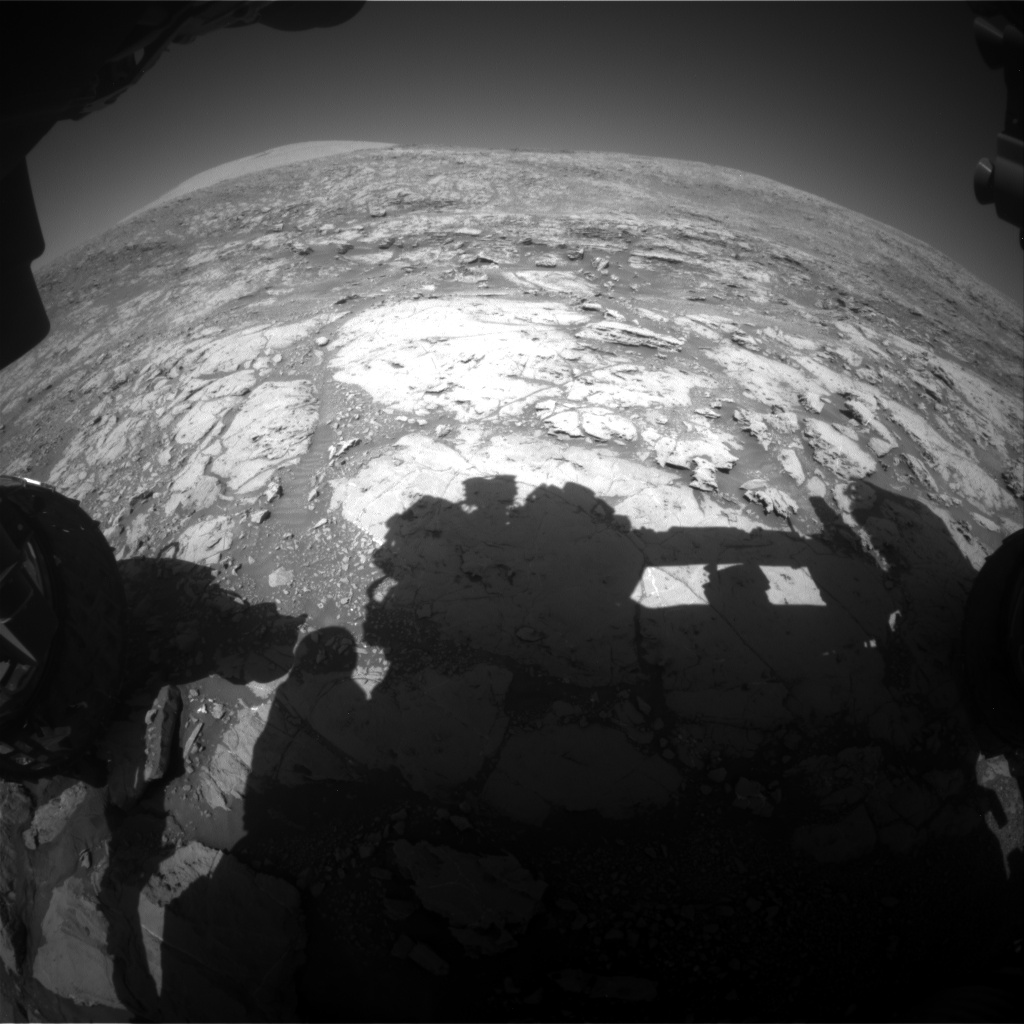 Nasa's Mars rover Curiosity acquired this image using its Front Hazard Avoidance Camera (Front Hazcam) on Sol 1869, at drive 2312, site number 66