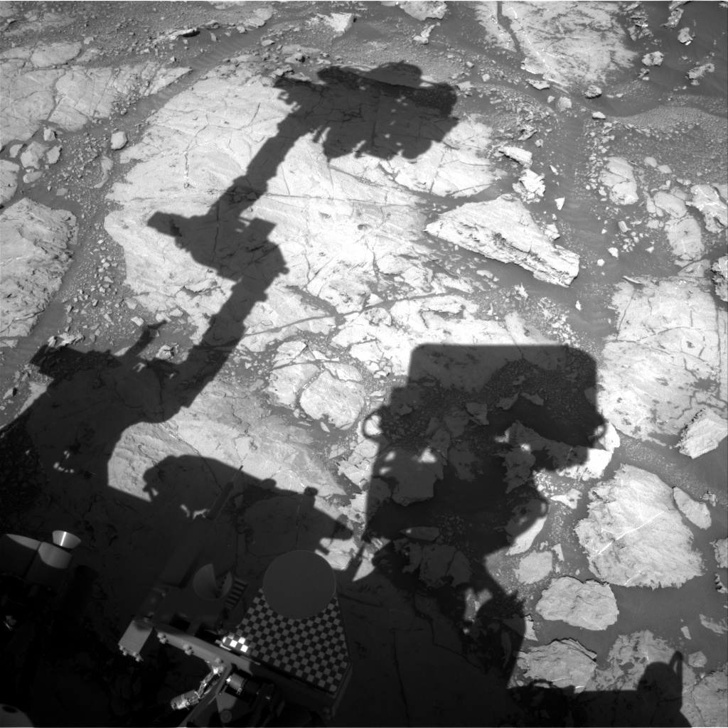 NASA's Mars rover Curiosity acquired this image using its Right Navigation Cameras (Navcams) on Sol 1869