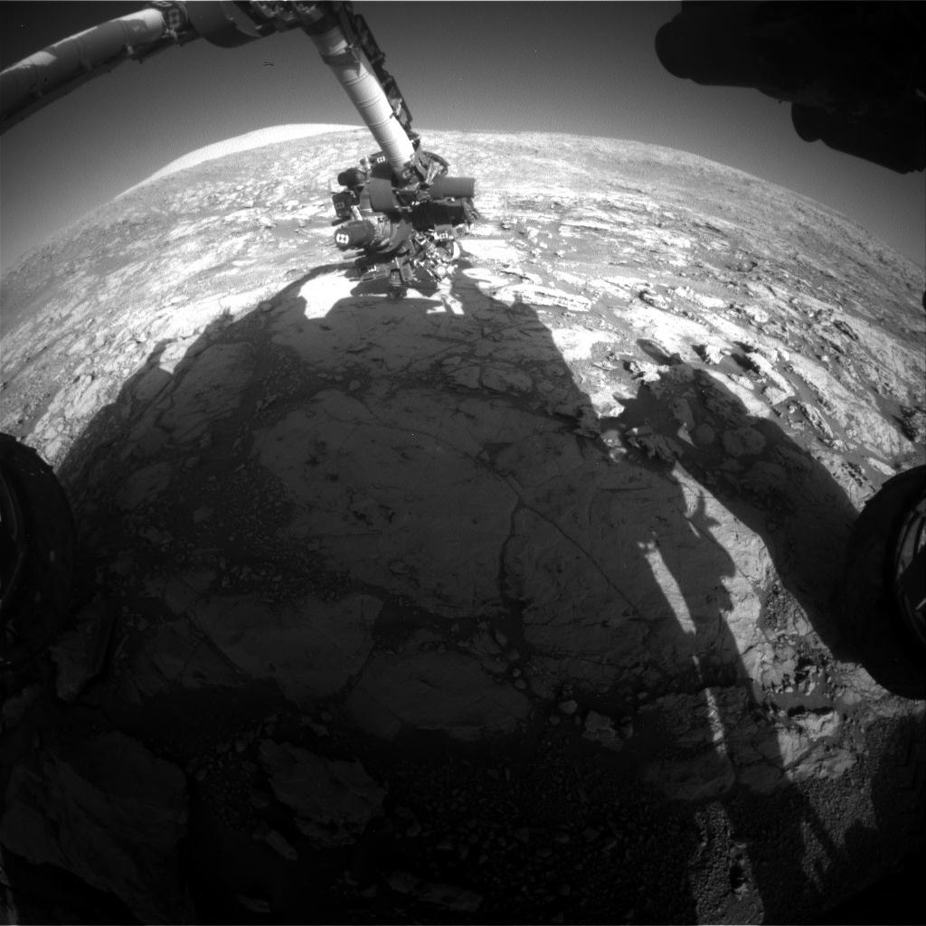 Nasa's Mars rover Curiosity acquired this image using its Front Hazard Avoidance Camera (Front Hazcam) on Sol 1870, at drive 2312, site number 66