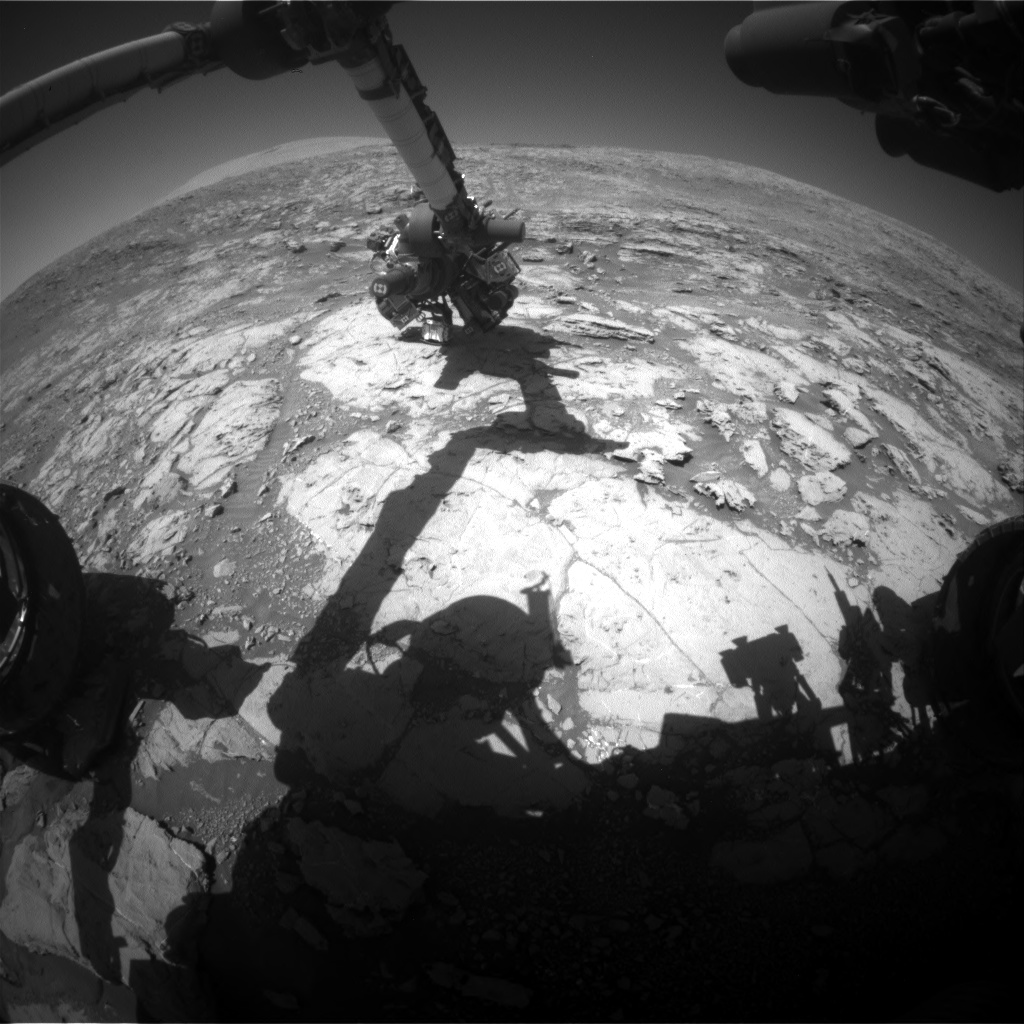 Nasa's Mars rover Curiosity acquired this image using its Front Hazard Avoidance Camera (Front Hazcam) on Sol 1871, at drive 2312, site number 66