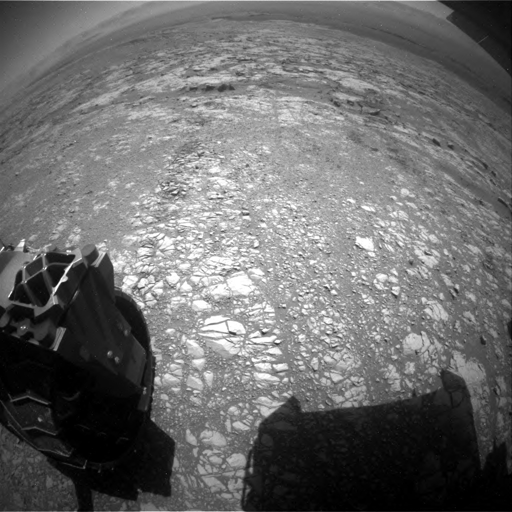 NASA's Mars rover Curiosity acquired this image using its Rear Hazard Avoidance Cameras (Rear Hazcams) on Sol 1871