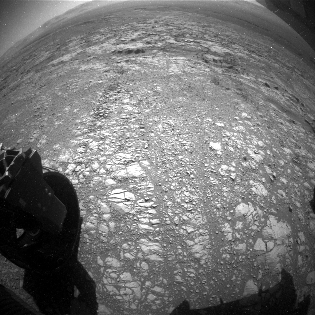 NASA's Mars rover Curiosity acquired this image using its Rear Hazard Avoidance Cameras (Rear Hazcams) on Sol 1872
