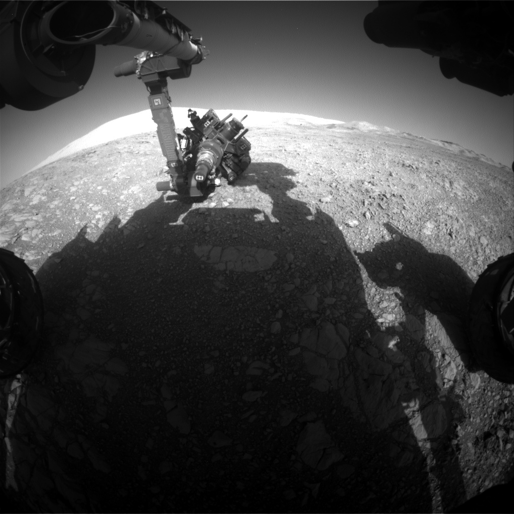 Nasa's Mars rover Curiosity acquired this image using its Front Hazard Avoidance Camera (Front Hazcam) on Sol 1875, at drive 2430, site number 66