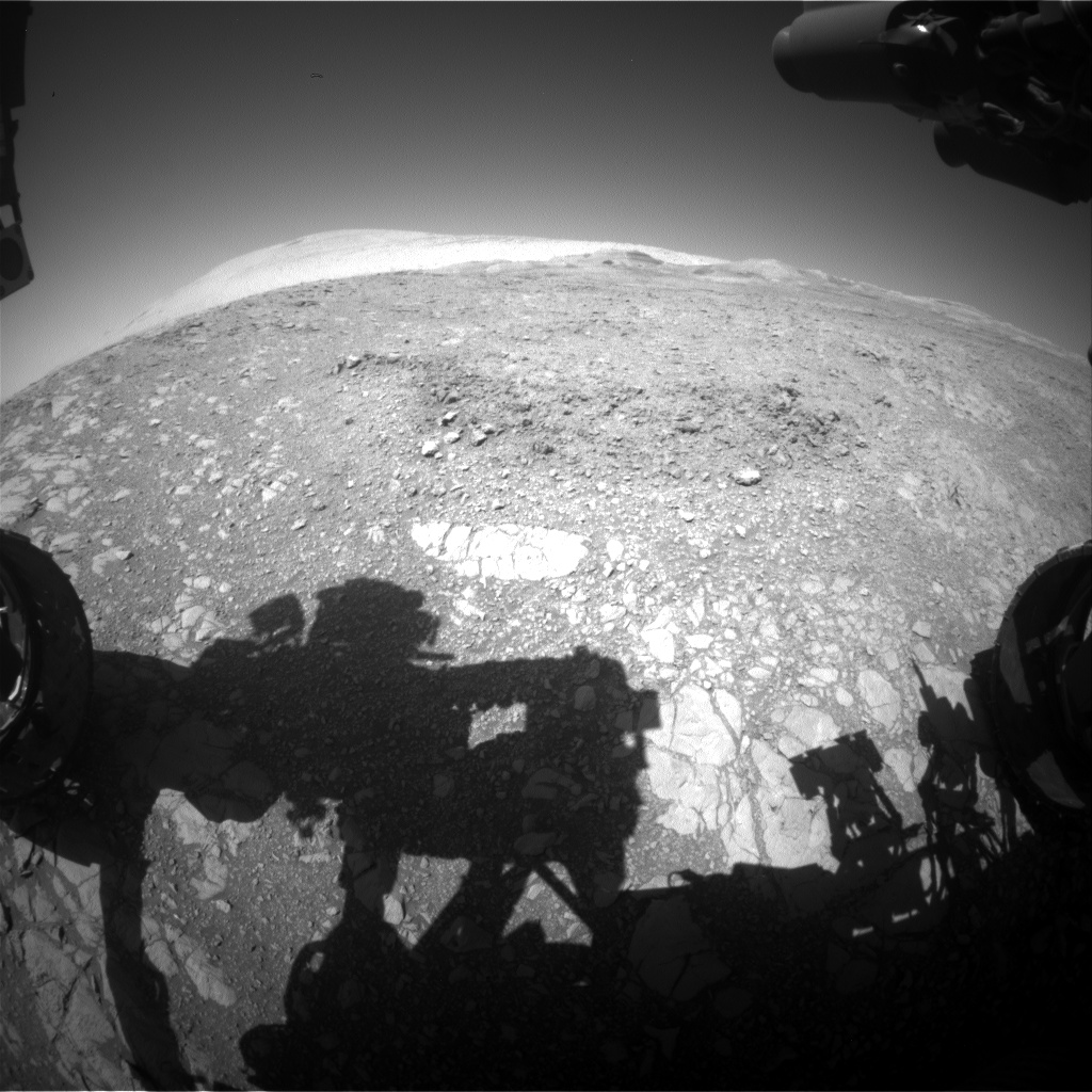 Nasa's Mars rover Curiosity acquired this image using its Front Hazard Avoidance Camera (Front Hazcam) on Sol 1876, at drive 2430, site number 66