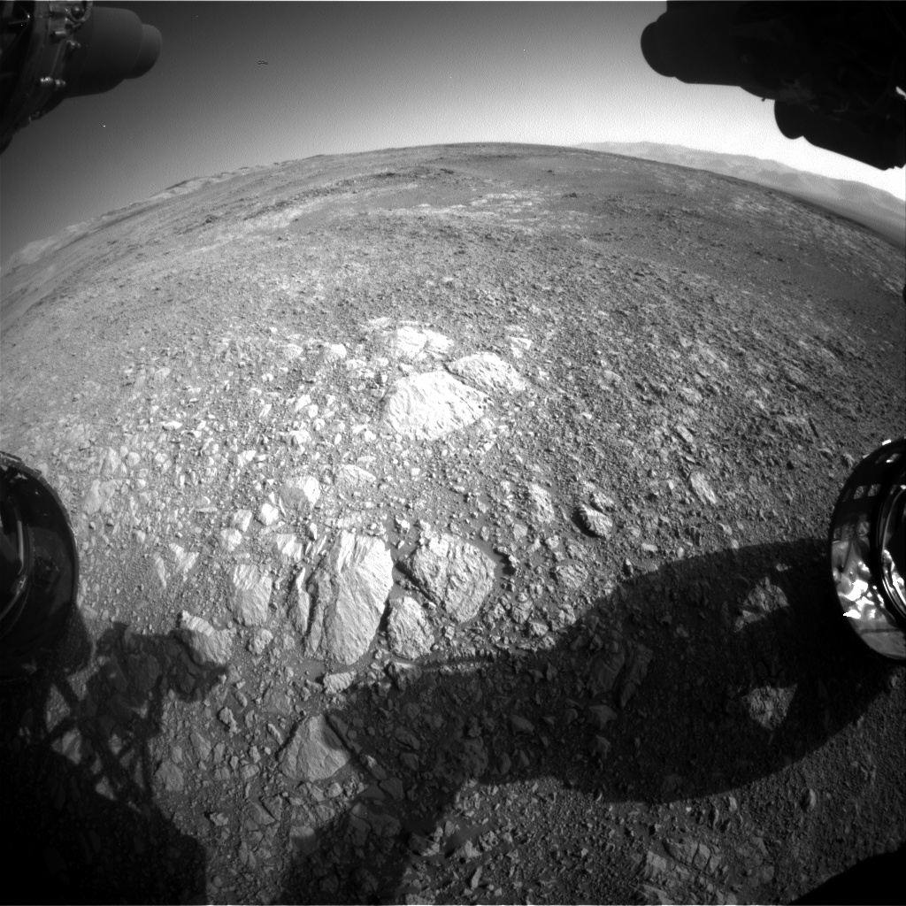 Nasa's Mars rover Curiosity acquired this image using its Front Hazard Avoidance Camera (Front Hazcam) on Sol 1877, at drive 0, site number 67