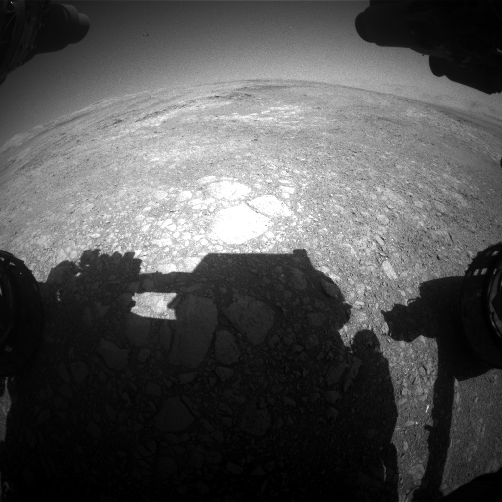 NASA's Mars rover Curiosity acquired this image using its Front Hazard Avoidance Cameras (Front Hazcams) on Sol 1878